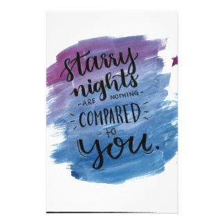 Papelaria As noites estrelados não são nada comparado a você