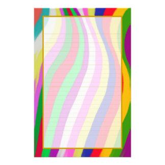 Papelaria As ondas coloridas alinharam muito bem artigos de