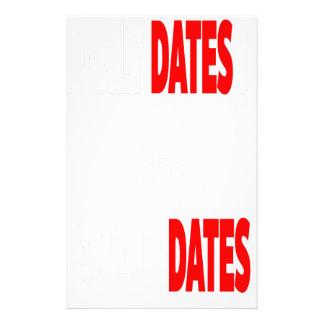Papelaria As únicas datas onde eu obtenho são actualizações