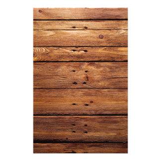 Papelaria assoalho de madeira
