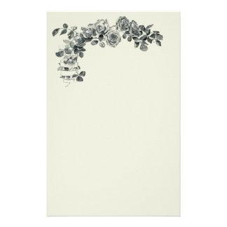 Papelaria Aumentou o buquê floral da flor da grinalda da