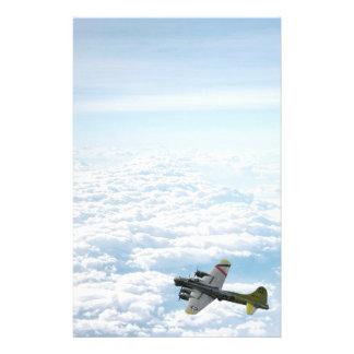 Papelaria Avião do bombardeiro da fortaleza WWII do vôo B17