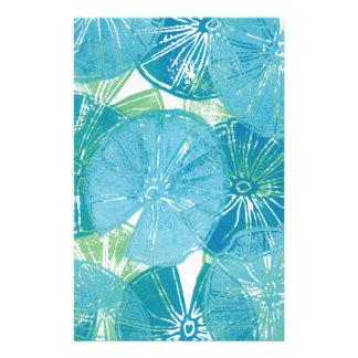 Papelaria Azuis da almofada de lírio