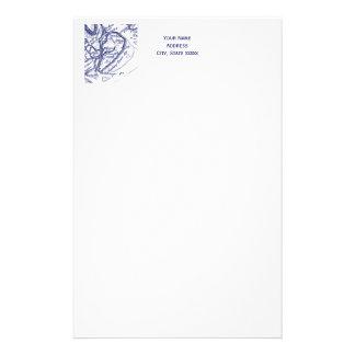 Papelaria Azuis marinhos do mapa do vintage do SC de Hilton
