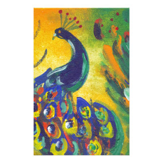 Papelaria azul de pavão