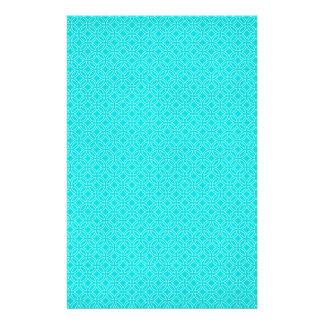 Papelaria Azul de Tiffany e círculos de bloqueio do creme