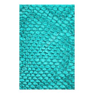 Papelaria Azul de turquesa do réptil