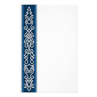 Papelaria Azul do teste padrão de Viking