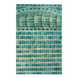 Papelaria azulejos azuis da cerceta