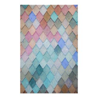 Papelaria Azulejos de telhado coloridos - PaintingZ