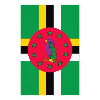 Papelaria Baixo custo! Bandeira de Dominica