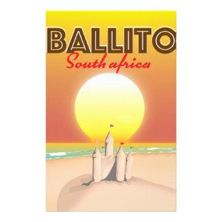 Papelaria Ballito sul - poster de viagens africano