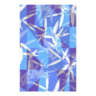 Papelaria Bambu no teste padrão geométrico azul