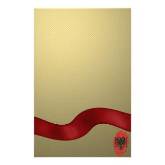 Papelaria Bandeira albanesa da impressão digital do toque