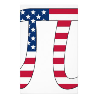 Papelaria Bandeira americana do dia do Pi, símbolo do pi