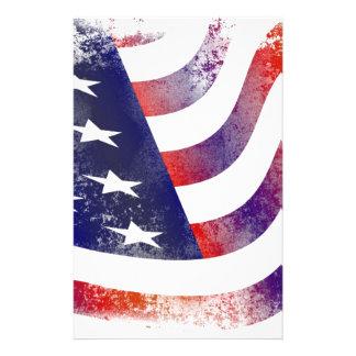Papelaria Bandeira americana do Grunge
