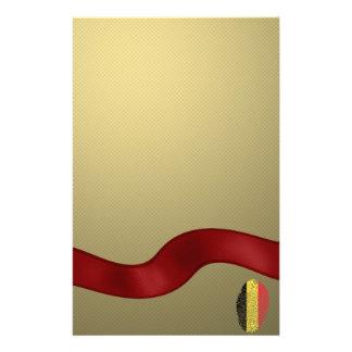 Papelaria Bandeira belga da impressão digital do toque