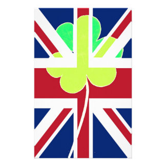 Papelaria Bandeira BRITÂNICA Ireland do trevo do trevo de St
