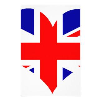 Papelaria Bandeira do coração de Union Jack