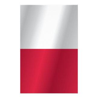 Papelaria Bandeira do Polônia