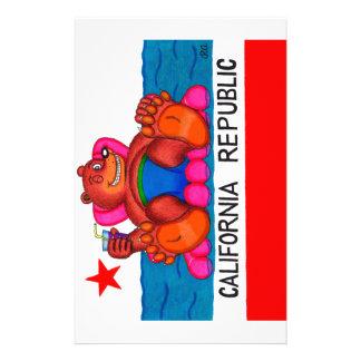 Papelaria Bandeira dos pés do urso de Califórnia
