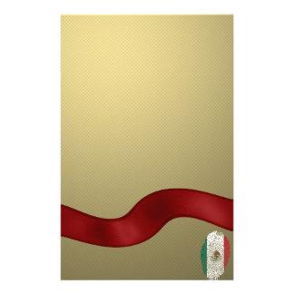 Papelaria Bandeira mexicana da impressão digital do toque