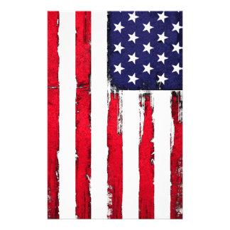 Papelaria Bandeira patriótica americana do Grunge