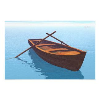 Papelaria Barco de madeira - 3D rendem