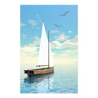 Papelaria Barco de navigação - 3D rendem