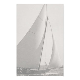Papelaria Barco de vela cinzento do tom