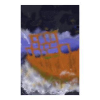 Papelaria Barco velho na arte da tempestade