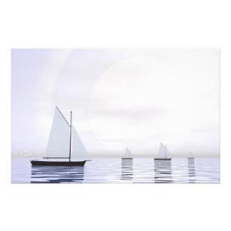 Papelaria Barcos de navigação - 3D rendem