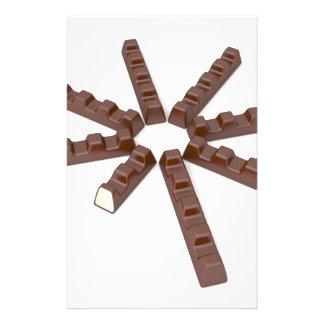 Papelaria Bares de chocolate do leite