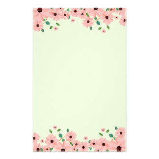 Papelaria Beiras cor-de-rosa pequenas da flor do verão