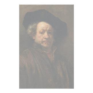 Papelaria Belas artes do retrato de auto de Rembrandt Van