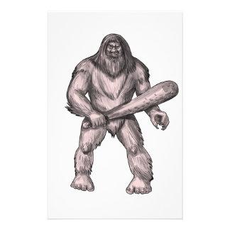 Papelaria Bigfoot que guardara o tatuagem ereto do clube