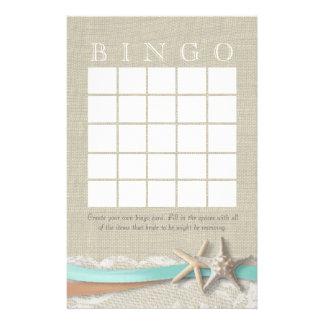 Papelaria Bingo do chá de panela da estrela do mar