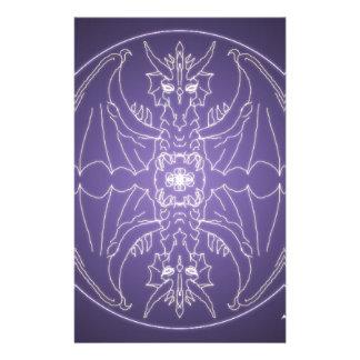 Papelaria Bola de cristal do dragão da mandala do gótico da