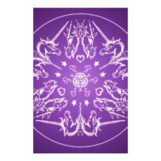 Papelaria Bola de cristal do dragão do unicórnio da mandala
