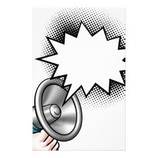 Papelaria Bolha do discurso da banda desenhada do megafone