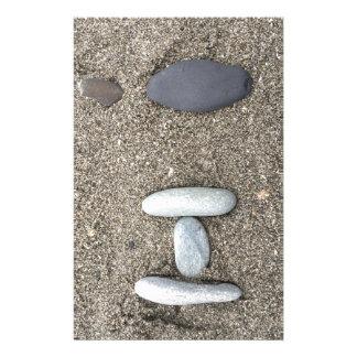 Papelaria Bonito simples Beachy da rocha da areia da arte