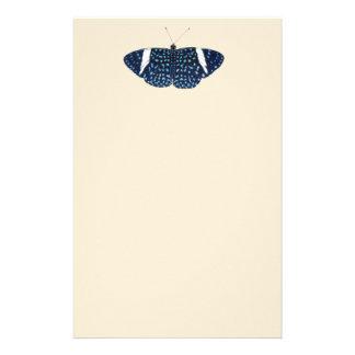 Papelaria Borboleta pintada da noite estrelado azul tropical