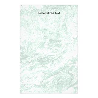 Papelaria Branco verde abstrato marmoreado do design  
