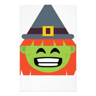 Papelaria bruxa todo o Emoji o Dia das Bruxas