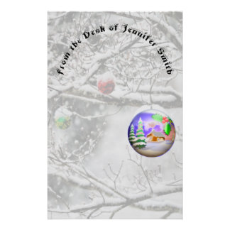 Papelaria Bulbo do Natal que pendura da árvore