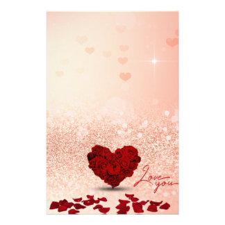 Papelaria Buquê cor-de-rosa do coração do dia dos namorados