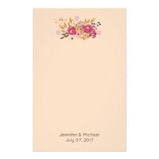 Papelaria Buquê cor-de-rosa e alaranjado da flor no fundo do