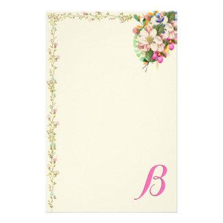 Papelaria Buquê floral do monograma de B