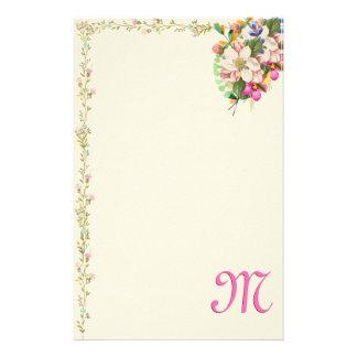 Papelaria Buquê floral do monograma de M