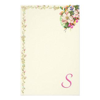 Papelaria Buquê floral do monograma de S